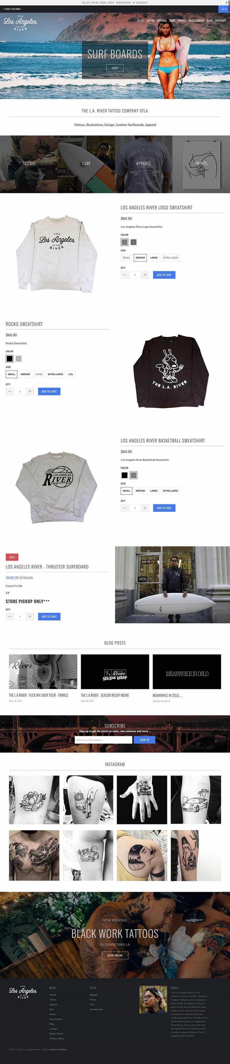 LA River Web Design